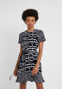 MICHAEL Michael Kors - RAGLAN DRESS - Day dress - black/white - 0