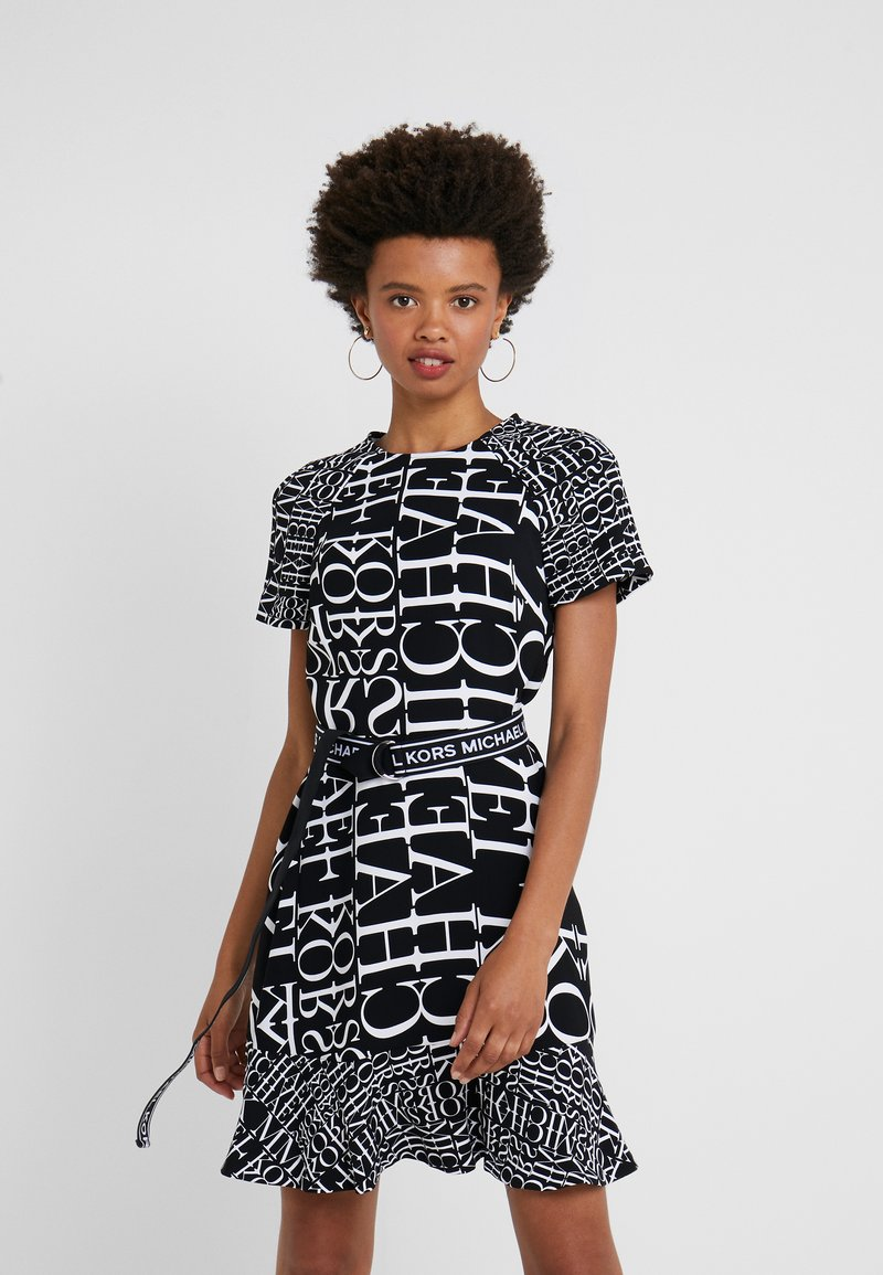 MICHAEL Michael Kors - RAGLAN DRESS - Day dress - black/white