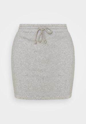 PCCHILLI SKIRT  - Mini skirt - light grey melange
