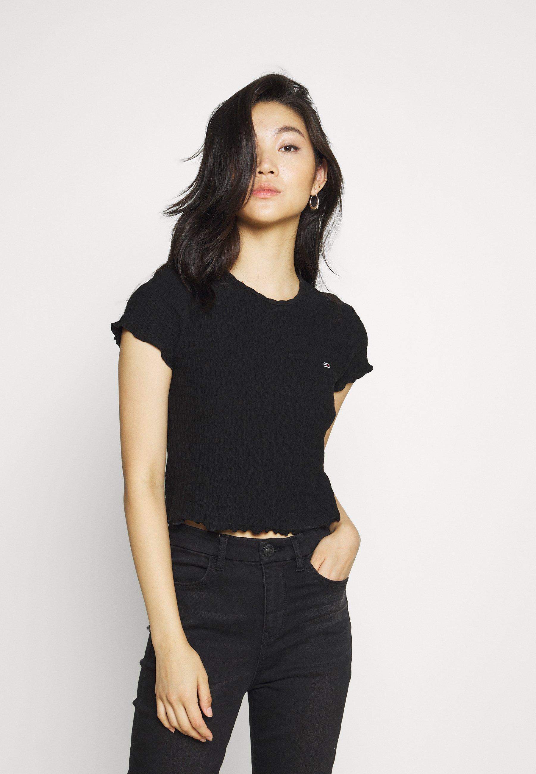 Women CROP SMOCK TEE - Print T-shirt