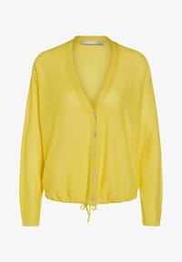 Oui - MIT TUNNELZUG - Cardigan - primrose yellow - 5