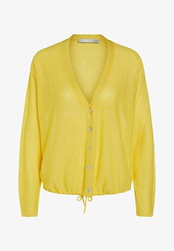 MIT TUNNELZUG - Cardigan - primrose yellow