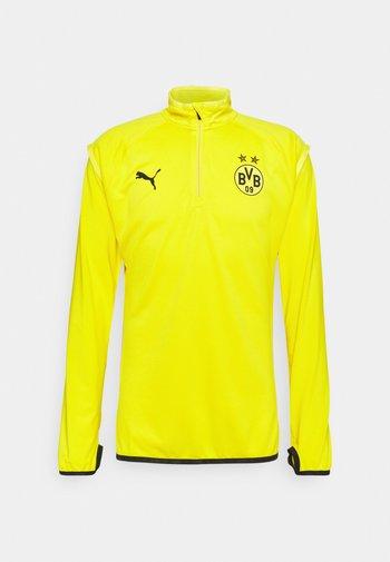 BVB BORUSSIA DORTMUND WARMUP MIDLAYER - Klubtrøjer - cyber yellow/puma black