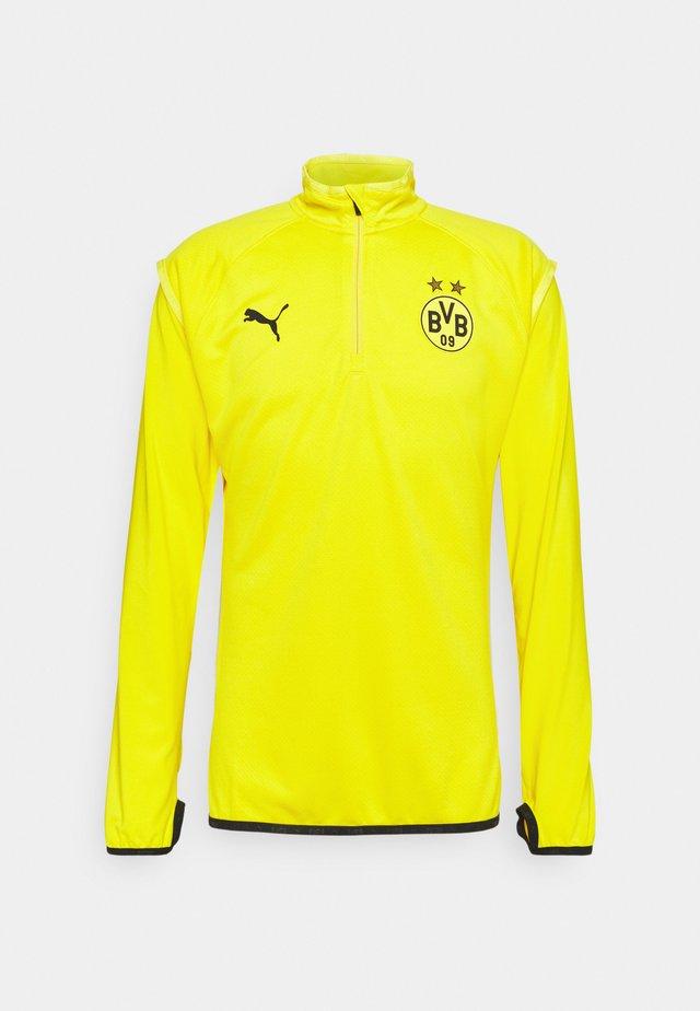 BVB BORUSSIA DORTMUND WARMUP MIDLAYER - Fanartikel - cyber yellow/puma black