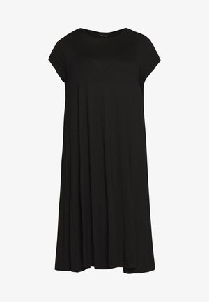 BASIC JERSEY DRESS - Vestido ligero - black