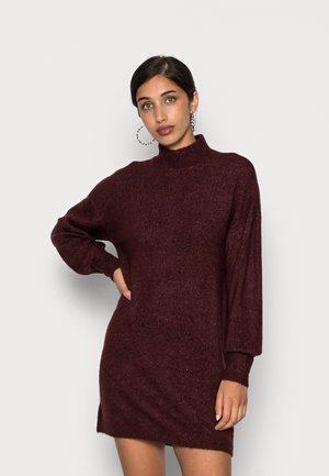 VMLEFILE HIGHNECK DRESS - Jumper dress - port royale melange