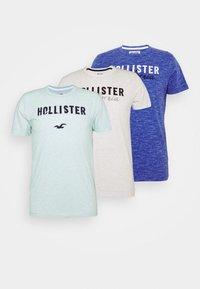 Hollister Co. - EX CORE TECH LOGO MULTI - T-shirt med print - grey/mint/cobalt - 6