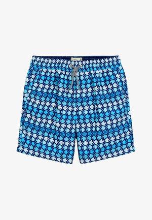 FISH PRINT - Swimming shorts - blue