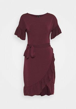 VMPOPPY TIE SHORT DRESS - Shift dress - fig