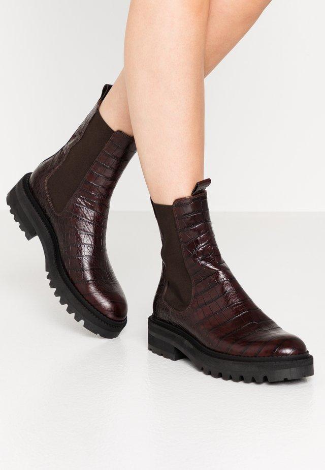 Platform ankle boots - testa di moro