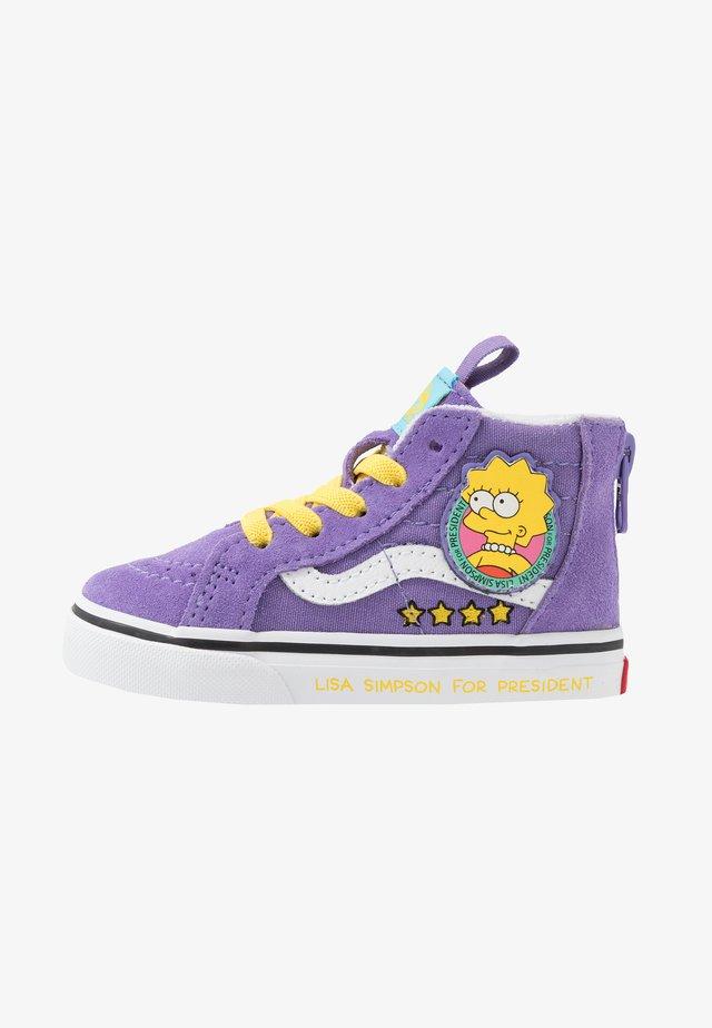 THE SIMPSONS SK8 ZIP - Sneakersy wysokie - purple