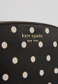 kate spade new york - SPENCER CABANA DOT SMALL DOME CROSSBODY - Across body bag - black - 4