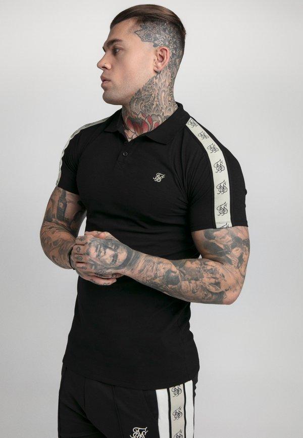 SIKSILK PREMIUM TAPE - Koszulka polo - black/czarny Odzież Męska CWEQ