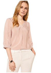 comma - MIT MUSTER - Blouse - cognac pinstripes - 5
