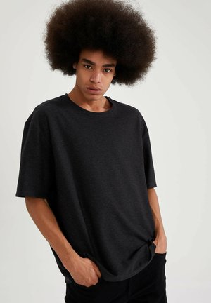 OVERSIZED - T-shirt - bas - anthracite