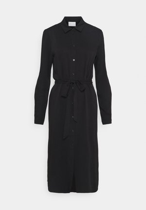 VIDANIA BELT DRESS - Shirt dress - black