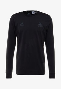 adidas Performance - TAN LOGO TEE - Langærmede T-shirts - black - 3