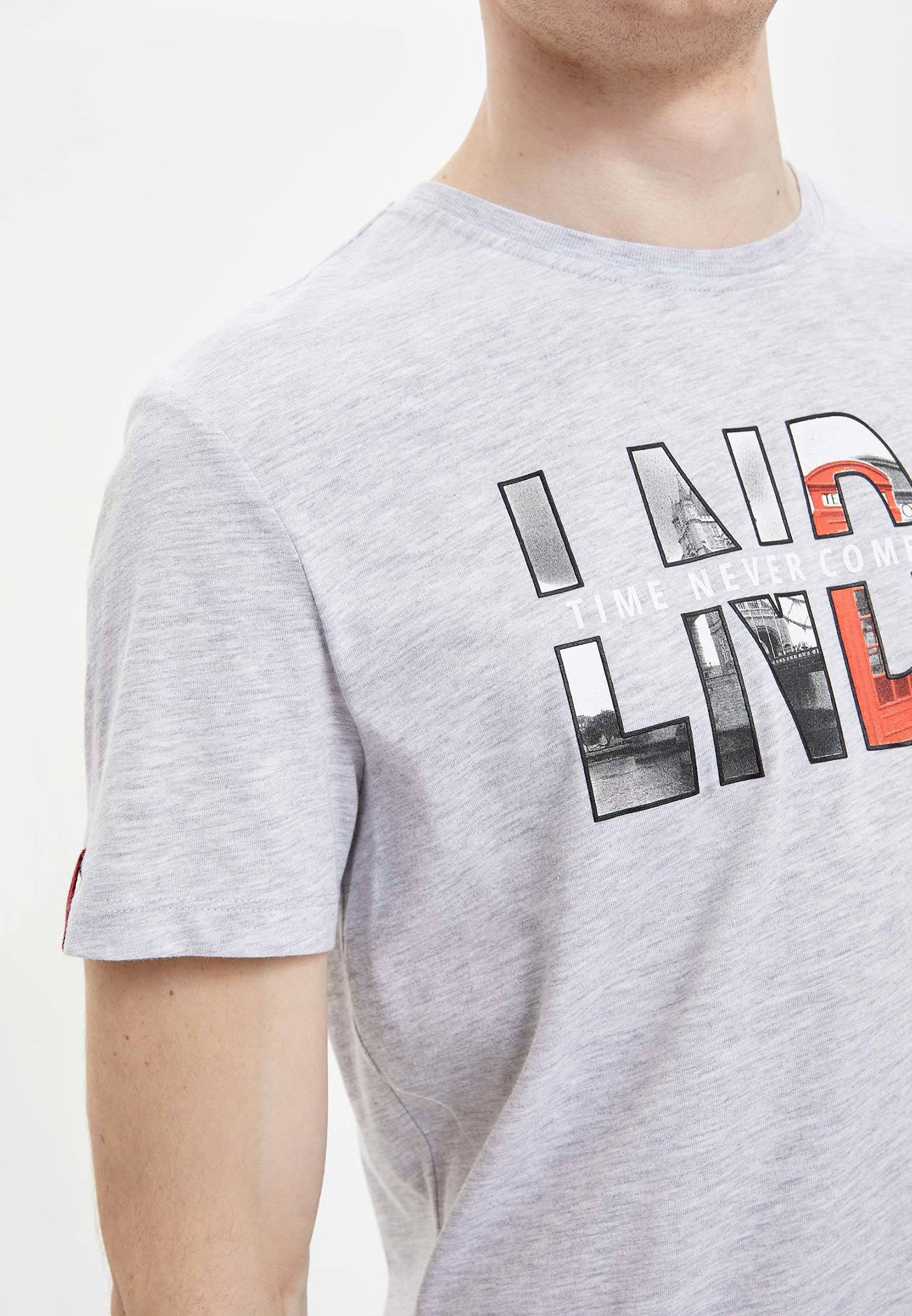 DeFacto Print T-shirt - grey GTDbH