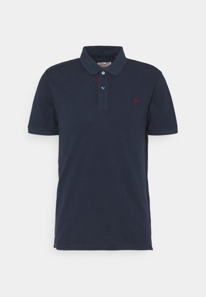 Polo shirt - deep navy/biking red