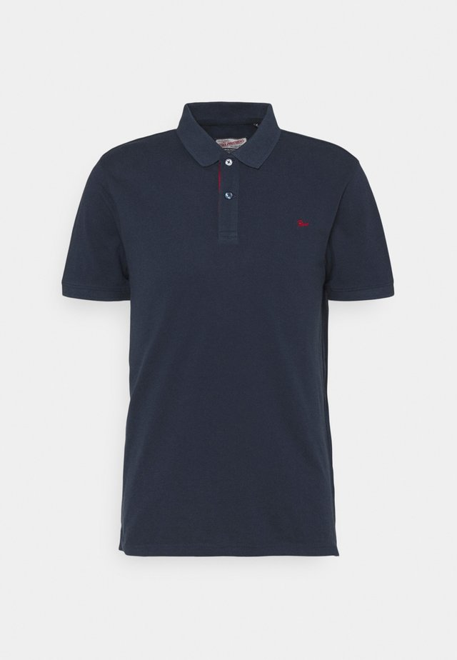 Poloshirt - deep navy/biking red