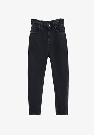 SLOUCHY - Vaqueros boyfriend - black denim