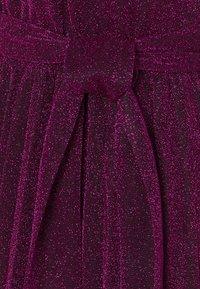 King Louie - BETTY PLISSE DRESS GLITTER PLISOLEY - Jersey dress - vivid purple - 2