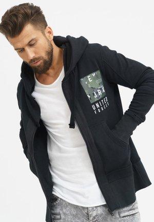 UNITED FORCES - Zip-up sweatshirt - black