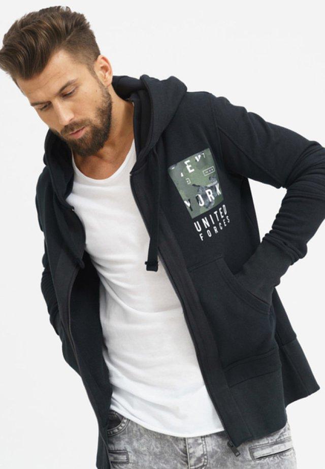 UNITED FORCES - Zip-up hoodie - black
