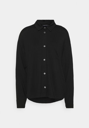 LONG SLEEVE WIDE - Button-down blouse - black