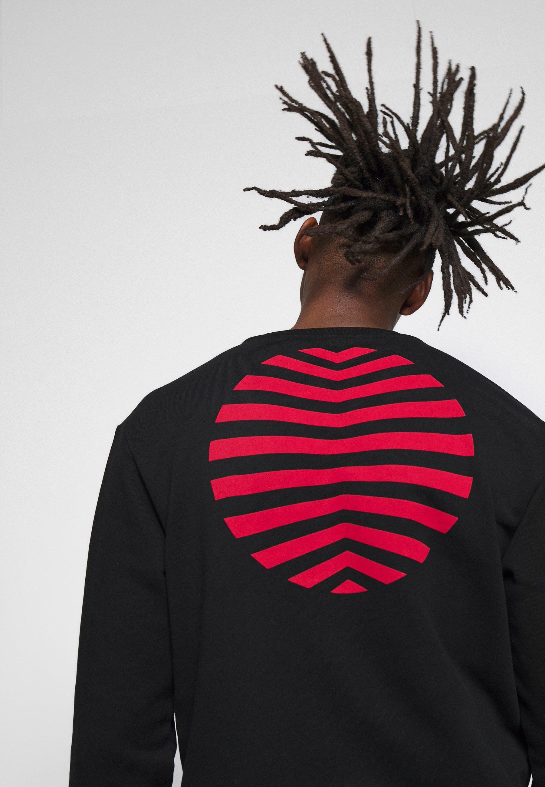 2020 Uusin Miesten vaatteet Sarja dfKJIUp97454sfGHYHD McQ Alexander McQueen MONSTER  Collegepaita darkest black/rouge