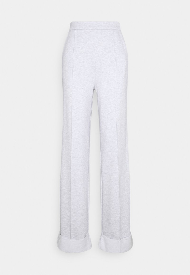 NA-KD Tall - WIDE LEG PANTS - Pantaloni sportivi - grey melange