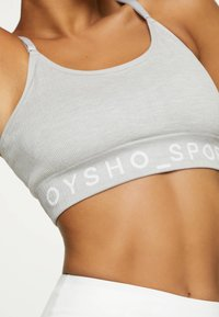 OYSHO - Medium support sports bra - grey - 2
