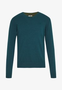 TOM TAILOR - BASIC VNECK - Jersey de punto - deep pond green - 3