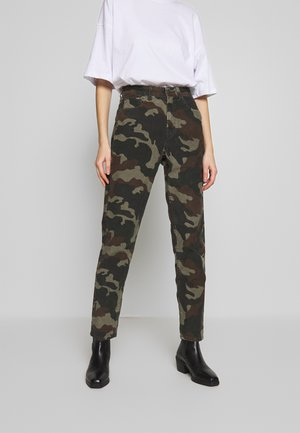 PRINTED CORD MOM JEAN - Bukse - camo green