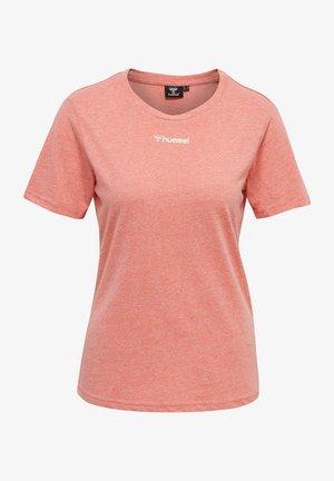 T-Shirt basic - sugar coral melange