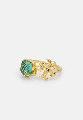 ROXANNE DELICATE - Anello - gold-coloured/azure green