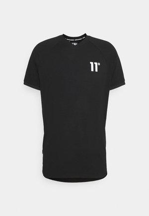 VESPER V NECK  - Print T-shirt - black