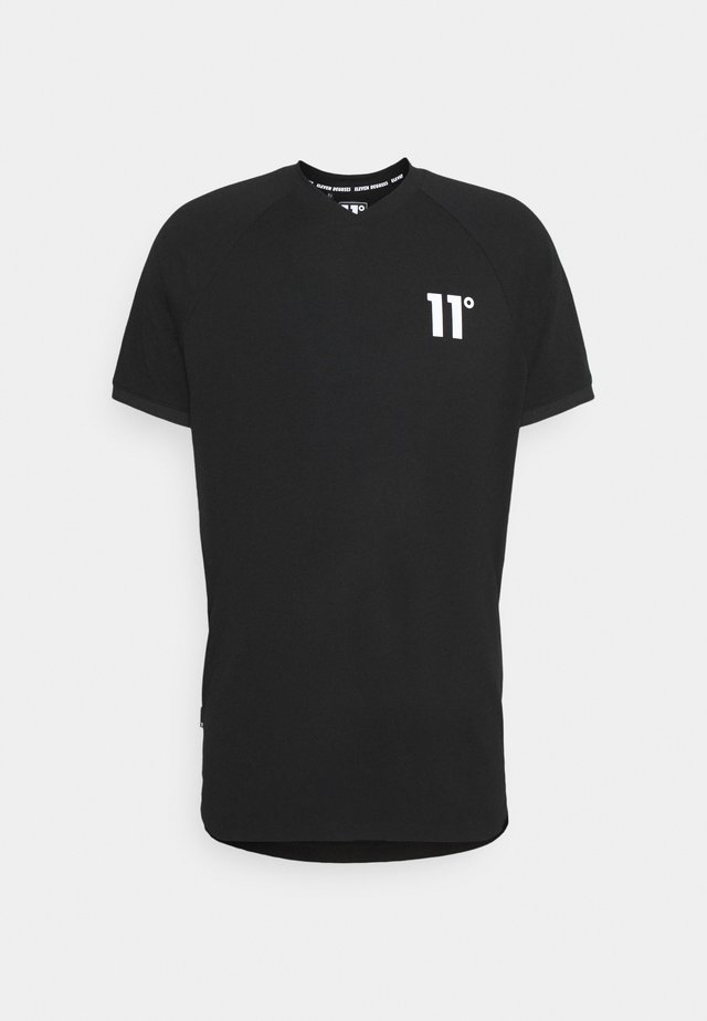 VESPER V NECK  - T-shirt imprimé - black