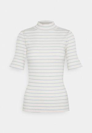 CANNA STRIPE HIGH NECK - T-Shirt print - snow white