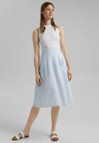 Esprit - A-line skirt - light blue - 4