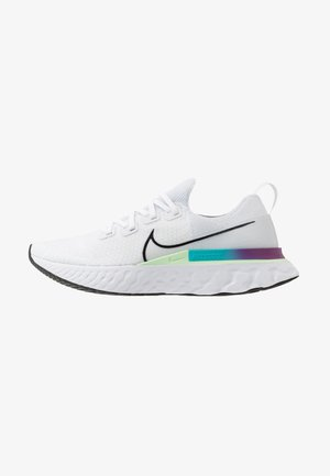REACT INFINITY RUN FK - Zapatillas de running neutras - white/black/vapor green/oracle aqua