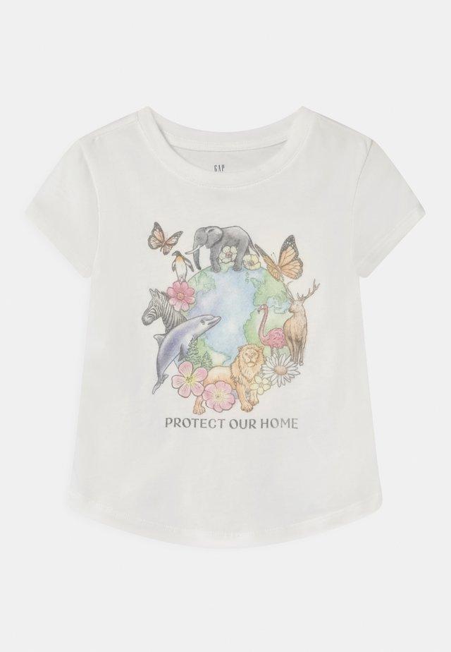 T-shirt med print - new off white
