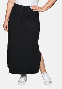 Sheego - Maxi skirt - black - 0