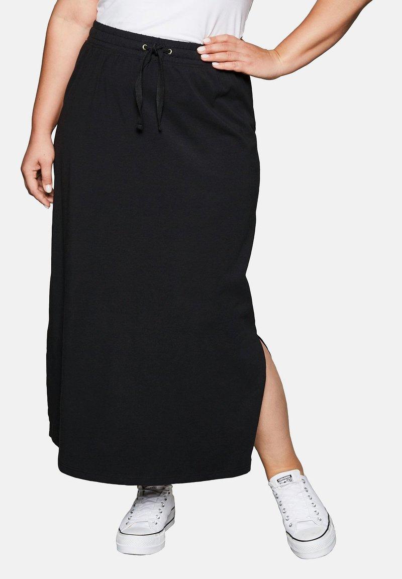 Sheego - Maxi skirt - black