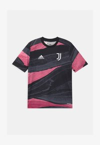 adidas Performance - JUVENTUS AEROREADY SPORTS FOOTBALL - Print T-shirt - black - 0