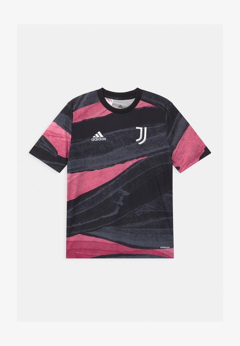 adidas Performance - JUVENTUS AEROREADY SPORTS FOOTBALL - Print T-shirt - black