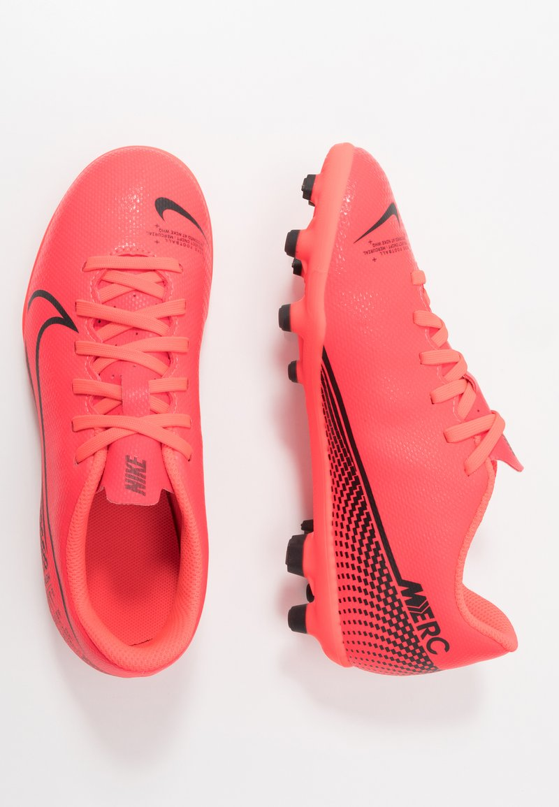 Nike Performance - MERCURIAL JR VAPOR 13 CLUB FG/MG UNISEX - Moulded stud football boots - laser crimson/black