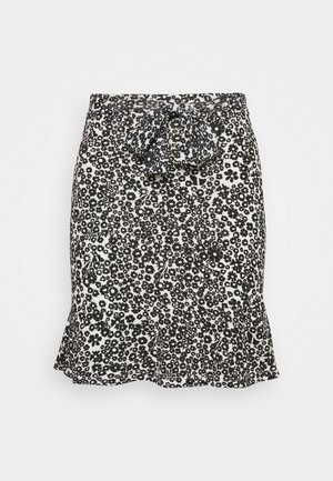 Mini skirts  - white/black
