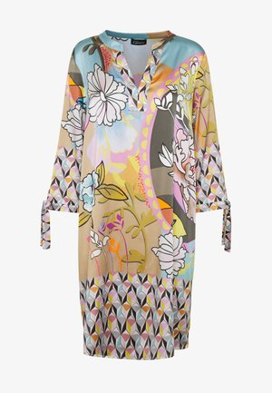 DRESS PRAHIC FLOWERS - Day dress - cement