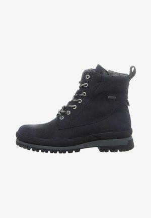 Lace-up ankle boots - denim